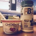 Breakfast match made in heaven @chobani & @bellplantation pb2