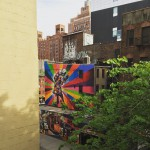 More art that can be seen from the Highline in…